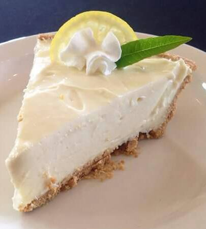 Refreshing and delightful! #love #food #cafe - Lemon Ice Box Pie at the Mayfield Cultural Center