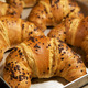 baked fresh daily... - Chocolate filled Croissants at Caffè Sorrentino Mayfair Village South