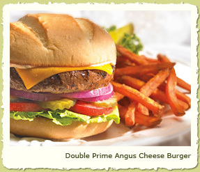 DOUBLE PRIME ANGUS CHEESE BURGER at Coco's