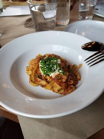 Fettucine pasta at View MKE