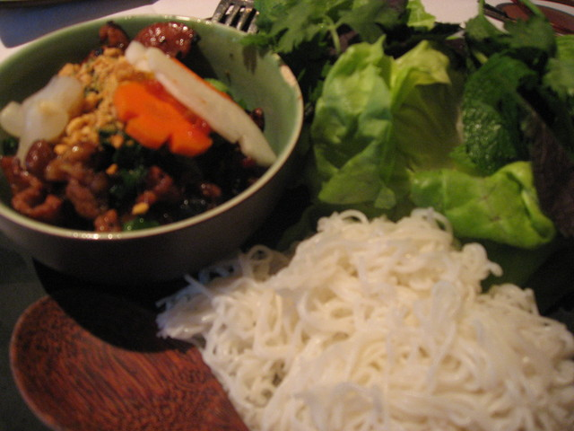 Bun Cha at Tamarine Restaurant