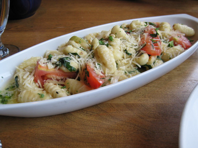 Tomato Basil Gnocchi at Bluefin Grille