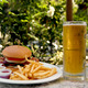 bacon, lettuce, tomato and onion - add cheddar or swiss cheese $1 - 1/2 Lb Bistro Burger at The Long Bar & Good Eats