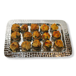Either vegetable or sausage meat stuffing - Stuffed Mushrooms at Latona's Specialty Foods