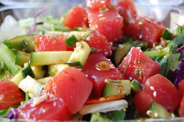 Poki Salad at Hawaiian BBQ Festival