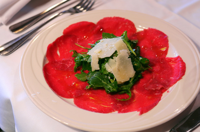 beef carpaccio at Uncle Paul's Pizza