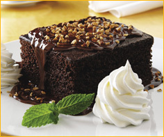 Smothered Chocolate Cake at Romano's Macaroni Grill
