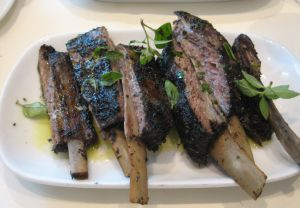 Lamb riblets at Kokkari Estiatorio