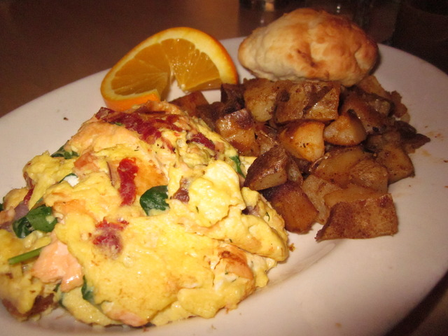 The Salmon Scramlette at The Huckleberry