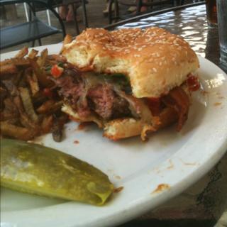 wadmala burger at Pawleys Front Porch