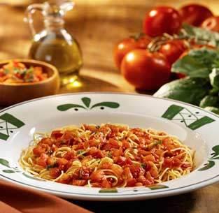 Capellini Pomodoro at Olive Garden