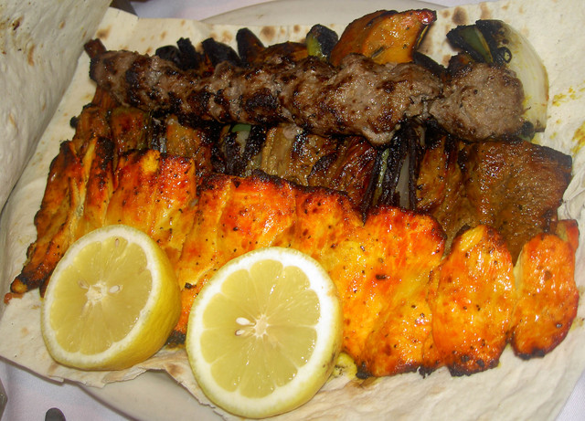 Kabobs at Raffi's Place Restaurant