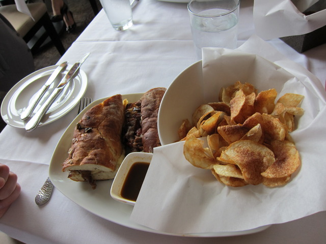 Steak sandwich at John Howie Steak Restaurant