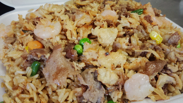 House Fried Rice at B Q Wings