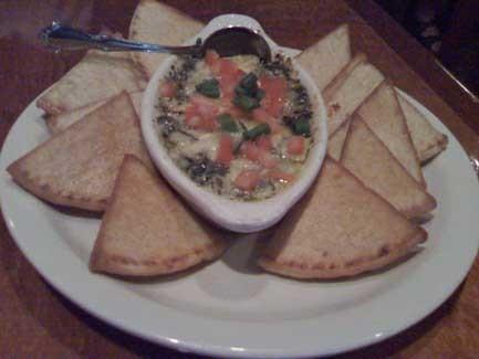 Spinach & Artichoke Dip at Club Car Restaurant & Lounge