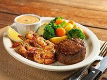 LODGE FILET & GRILLED SHRIMP at Bugaboo Creek Steak House