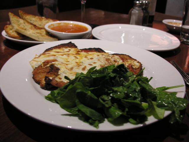 Classic Stacked Eggplant Parmesan at Mark & Isabella