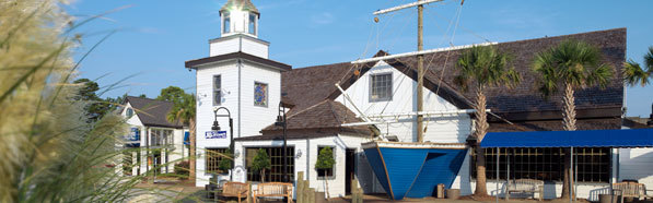 Exterior at Captain George's Seafood Restaurant