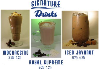 Signature Drinks at Java Joint