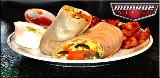 Breakfast Burrito at Monroe Diner Inc