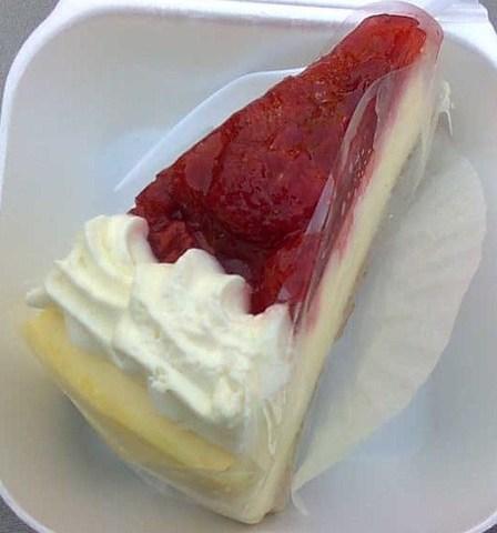 Delicious!!! :) - Strawberry Cheesecake at Yamazaki Bakery