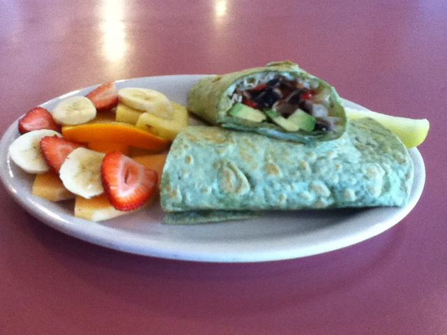 Veggie melt wrap at Crystal Fountain Cafe