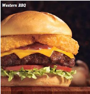 Western BBQ Burger at Friendly's