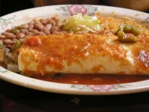 Veggie Burrito at Tequila's