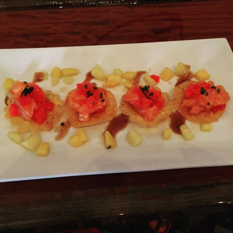 Ahi Tuna Tostadas at Fat Fish OC