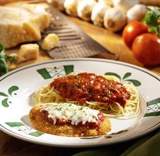 Chicken Parmigiana at Olive Garden
