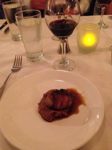 Pecan Bacon wrapped Pork Tenderloin, Serrano Cinnamon Sugar Crust over Nutella Mashed Potatoes and a - 6 Course Wine Dinner at Alfio's buon cibo