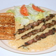 3 pcs. Pork, Rice Pilaf, Salad with Greek Dressing, and Garlic Bread - Souvlaki Plate at Squabs Gyros