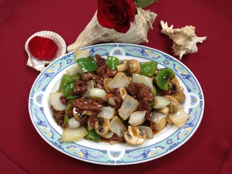 Szechuan Beef at Mandarin Garden