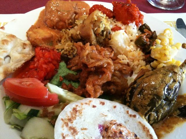 First half of the buffet - Lunch Buffet at Kumari Restaurant
