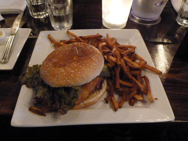 catfish burger at Oyster Shack
