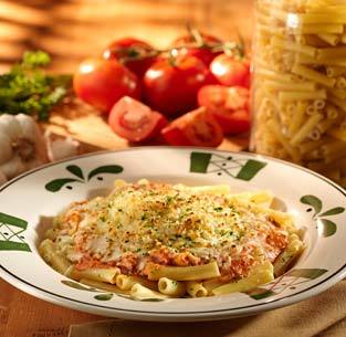Five Cheese Ziti al Forno at Olive Garden