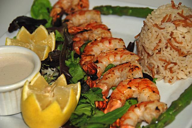 Shrimp Kebab at Le Caire