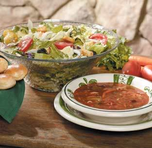 Soup, Salad & Bread Sticks at Olive Garden