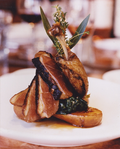 Roast Breast of Duck with Caramelized Pear at Thyme Restaurant & Cafe Bar