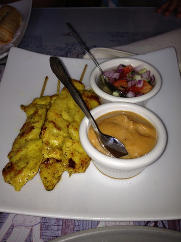 Chicken Satay at Krua Thai Cafe