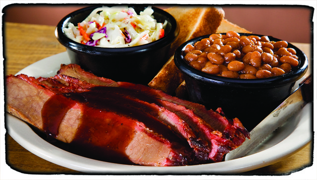 Brisket Dinner at Sticky Fingers RibHouse