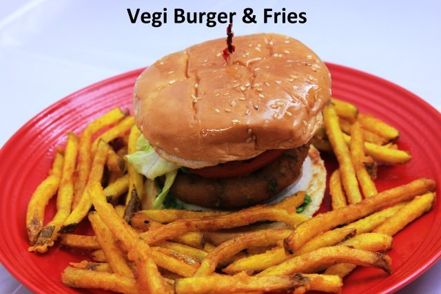Vegi Burger & Fries at Standard Sweets and Snacks