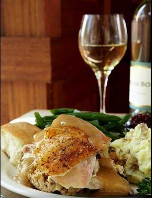 ROAST TURKEY AND DRESSING at Romano's Macaroni Grill