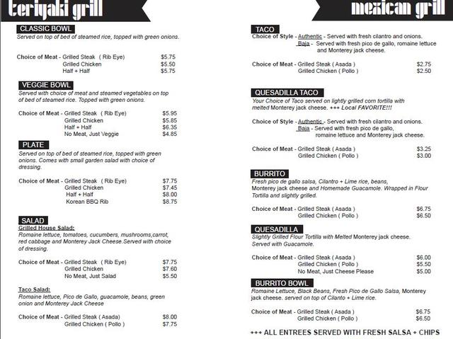 Waba Grill Menu Amp Reviews Chatsworth 21534