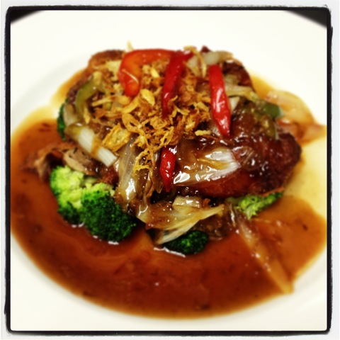 Duck Tamarind sauce at Five Star Thai Cuisine