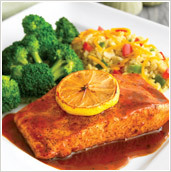 Asian Glazed Salmon at Ruby Tuesday