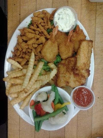 Seafood platter at Monroe Diner Inc