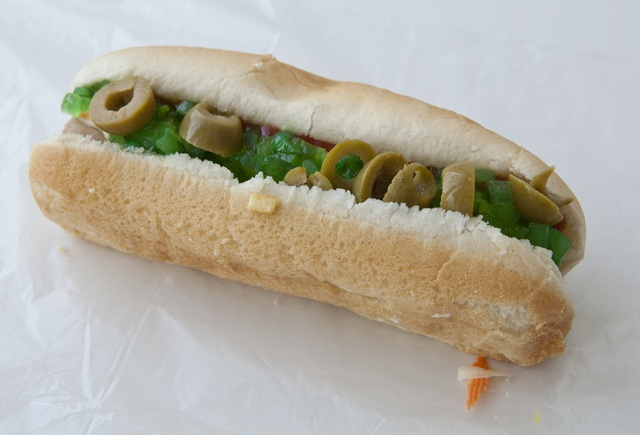 Olive Dog at Cooks Drive In