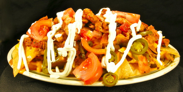 Actual Food Photo Nacho Grande Supreme At Columbia Restaurant
