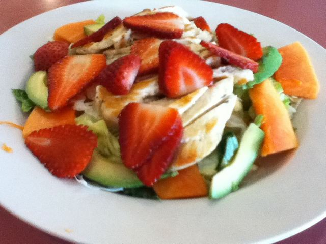 Tropical Chicken Salad at Crystal Fountain Cafe